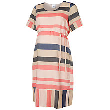 Buy Mamalicious Block Stripe Print Maternity Dress, Multi Online at johnlewis.com