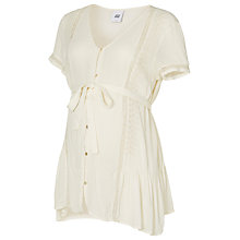 Buy Mamalicious Theodora Maternity Top, White Online at johnlewis.com