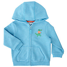 Buy John Lewis Baby Croc Sweatshirt Hoodie, Blue Online at johnlewis.com