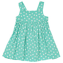 Buy John Lewis Baby Strap Butterfly Dress, Green/Multi Online at johnlewis.com