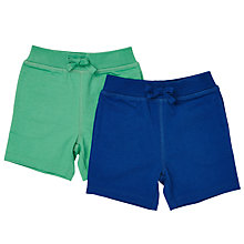 Buy John Lewis Baby Jersey Shorts, Pack of 2, Blue/Green Online at johnlewis.com