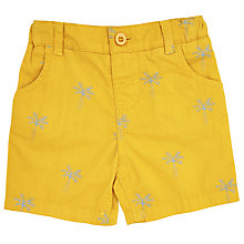 Buy John Lewis Baby Palm Tree Shorts, Yellow Online at johnlewis.com