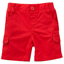 Buy John Lewis Baby Ribstop Shorts, Red Online at johnlewis.com