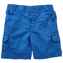 Buy John Lewis Baby Ribstop Shorts, Navy Online at johnlewis.com