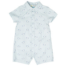 Buy John Lewis Baby Fish Romper Playsuit, Blue Online at johnlewis.com