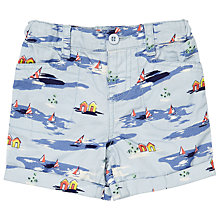 Buy John Lewis Baby Hawaiian Print Shorts, Blue Online at johnlewis.com