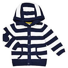 Buy John Lewis Baby Stripe Hoodie, Blue Online at johnlewis.com