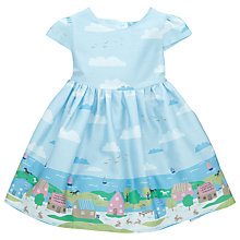 Buy John Lewis Baby Beach Scene Cotton Dress, Blue/Multi Online at johnlewis.com