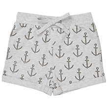 Buy John Lewis Baby Anchor Print Shorts, Grey Online at johnlewis.com