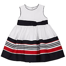 Buy John Lewis Baby Premium Nautical Dress, Blue/Multi Online at johnlewis.com