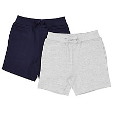 Buy John Lewis Baby Jersey Shorts, Pack of 2, Grey/Navy Online at johnlewis.com