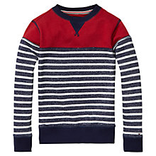 Buy Tommy Hilfiger Boys' Stripe Knit Jumper, Black Iris Online at johnlewis.com