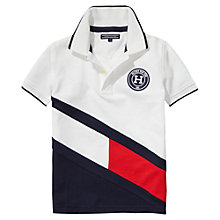 Buy Tommy Hilfiger Boys' Colour Block Flag Polo Shirt, White Online at johnlewis.com