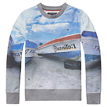 Buy Tommy Hilfiger Boys' Photo Print Sweater, White Online at johnlewis.com