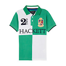 Buy Hackett London Boys' Quad Polo Shirt, Green/White Online at johnlewis.com
