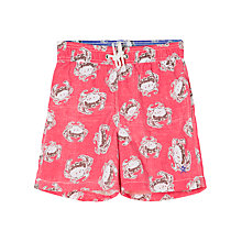 Buy Hackett London Boys' Crab Swim Shorts, Red Online at johnlewis.com