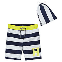 Buy Tommy Hilfiger Boys' Honolulu Swim Shorts, Black Iris Online at johnlewis.com