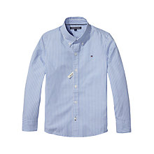 Buy Tommy Hilfiger Boys' Park Stripe Shirt, Blue Online at johnlewis.com