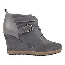 Buy Mint Velvet Isabel Wedge Heeled Shoe Boots, Granite Nubuck Online at johnlewis.com