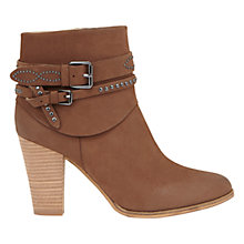 Buy Mint Velvet Amber Leather Stud Ankle Boots, Tan Nubuck Online at johnlewis.com