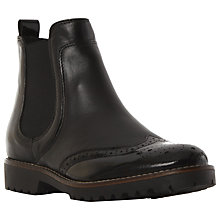 Buy Dune Portmann Low Heeled Chelsea Boots, Black Leather Online at johnlewis.com
