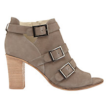 Buy Mint Velvet Rinia Peep Toe Shoe Boots, Taupe Nubuck Online at johnlewis.com