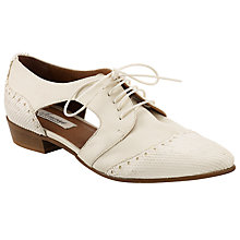 Buy Somerset by Alice Temperley Felton Cut Out Brogues, Cream Online at johnlewis.com
