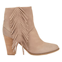 Buy Mint Velvet Mary High Heel Ankle Boots, Mole Nubuck Online at johnlewis.com