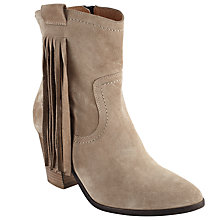 Buy Collection WEEKEND by John Lewis Pardern Block Heeled Tassel Ankle Boots, Natural Suede Online at johnlewis.com
