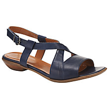Buy John Lewis Morden Cross Strap Sandals, Navy Online at johnlewis.com