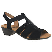 Buy Gabor Honesty Slip On Block Heeled Sandals, Black Online at johnlewis.com