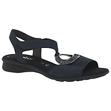 Buy Gabor Ainsley Wide Fitting Sandals, Night Blue Nubuck Online at johnlewis.com