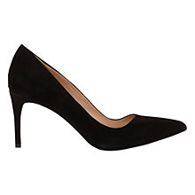 Buy Mint Velvet Maria Stiletto High Heeled Court Shoes, Black Suede Online at johnlewis.com