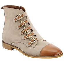 Buy Somerset by Alice Temperley Prestleigh Buckle Ankle Boots, Natural Online at johnlewis.com