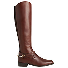 Buy L.K. Bennett Rhona Low Heeled Knee High Boots Online at johnlewis.com