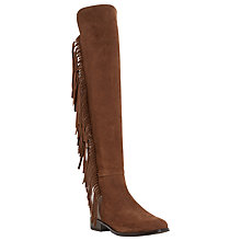 Buy Dune Trish Rodeo Suede Trim Over The Knee Boots, Tan Suede Online at johnlewis.com