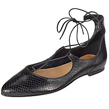 Buy Somerset by Alice Temperley Henton Pointed Toe Lace Up Pumps, Black Online at johnlewis.com