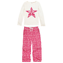 Buy Fat Face Girls' Carol Pyjama Set, Pink Online at johnlewis.com