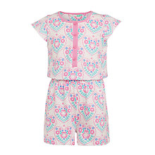 Buy John Lewis Girls' Floral Print Playsuit, Multi Online at johnlewis.com
