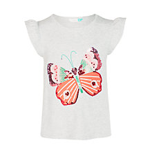 Buy John Lewis Girls' Sequin Butterfly T-Shirt, Grey Online at johnlewis.com