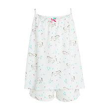 Buy John Lewis Girls' Horse Print Strap Swing Pyjamas, White/Multi Online at johnlewis.com