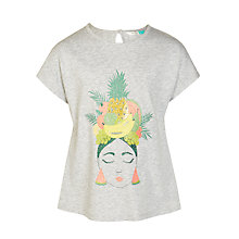 Buy John Lewis Girls' Fruit Salad Lady T-Shirt, Grey Online at johnlewis.com
