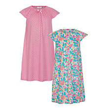 Buy John Lewis Girls' 2 Pack Floral Nightdress, Multi Online at johnlewis.com