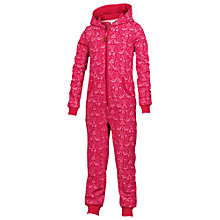 Buy Fat Face Girls' Carol Print Onesie, Pink Online at johnlewis.com