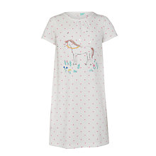 Buy John Lewis Girls' Horse Short Sleeve Nightdress, Multi Online at johnlewis.com