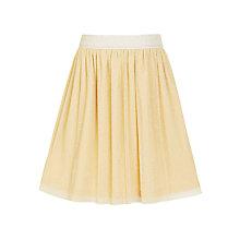 Buy John Lewis Girls' Mesh Skirt, Gold Online at johnlewis.com