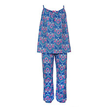 Buy John Lewis Girls' Hearts Swing Pyjama Set, Blue Online at johnlewis.com