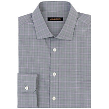 Buy Jaeger Prince of Wales Modern Shirt, Lilac Online at johnlewis.com