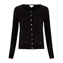 Buy East Crew Neck Cardigan, Black Online at johnlewis.com