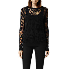 Buy AllSaints Web Jumper, Black Online at johnlewis.com